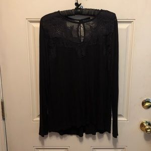 Maurice's black Lacy top